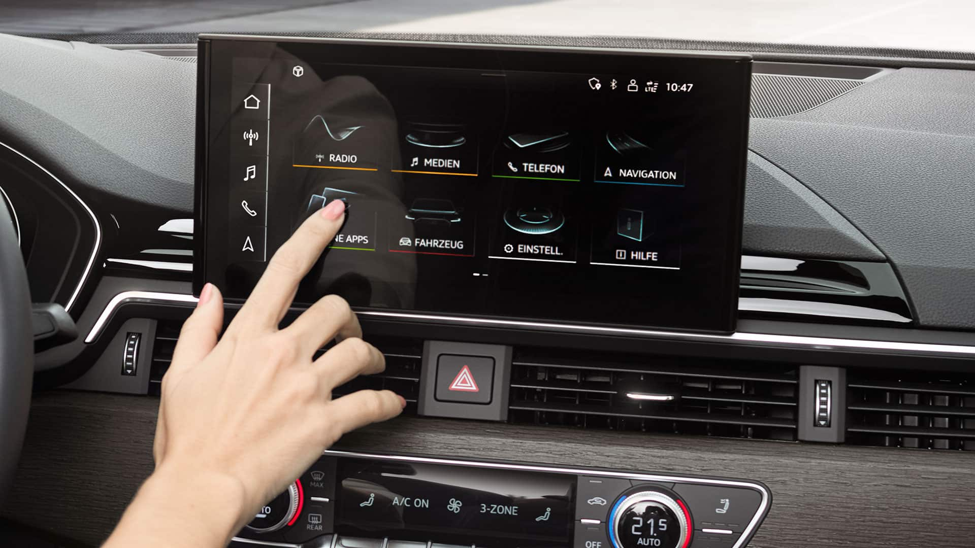 Audi A5 Coupé MMI touch-Display