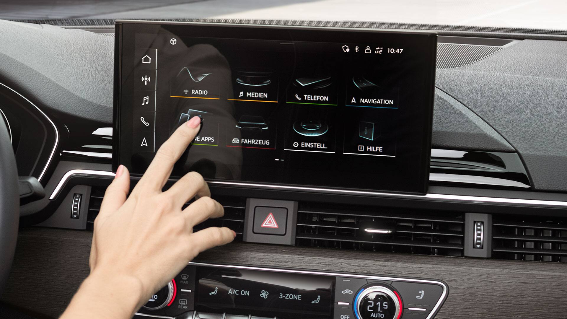 Audi A5 Sportback MMI touch display